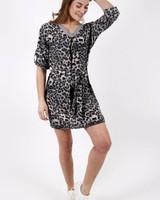 GL Leopard Dress Grey/Black