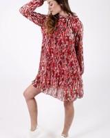 GL Livia Dress Print Red Tones Bow