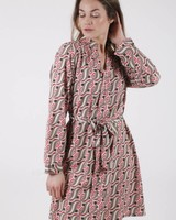 GL Dress Print Red Tone