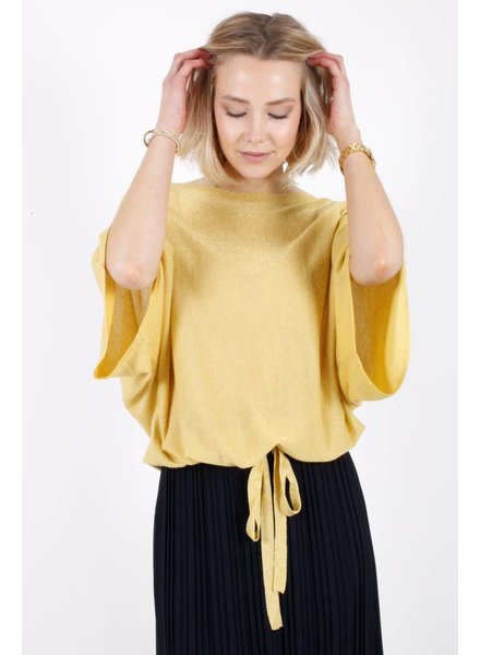 NI Aurélie Top Yellow Lurex