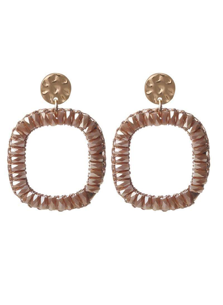 BB Square Earring Brown