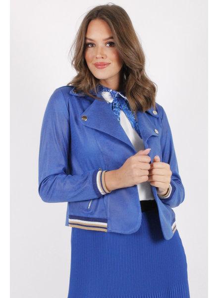 AA Francesca Leatherlook Jacket Royal Blue