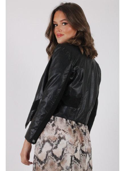 AA Candy Leatherlook Jacket Black