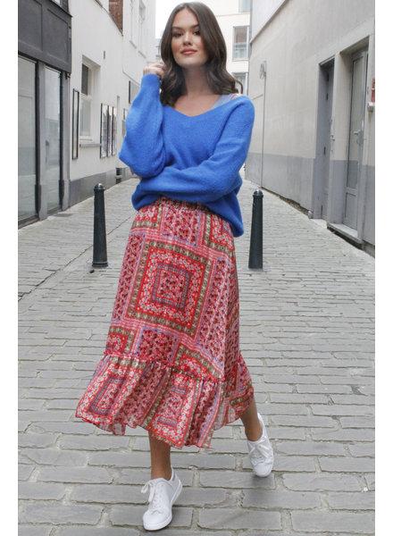NI Aurélie Skirt Red Tone