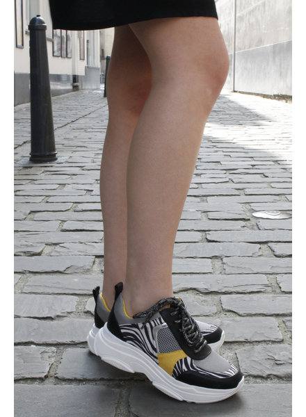 LS Honey Sneaker Combi Zebra/Yellow