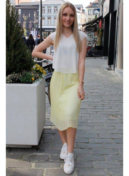 PB Dolce Plissé Skirt Yellow