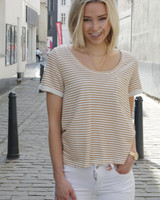 LPE Noelie T-shirt Stripes Ecru/Gold