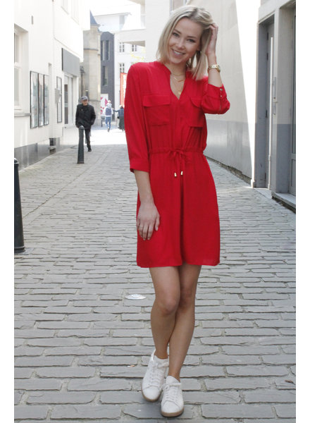 AA Julie Dress Pockets/Taille Red