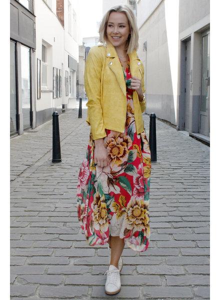 AA Perla Leatherlook Jacket Yellow
