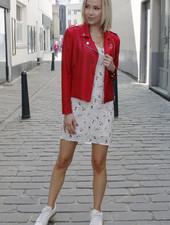 AA Perla Leatherlook Jacket Red
