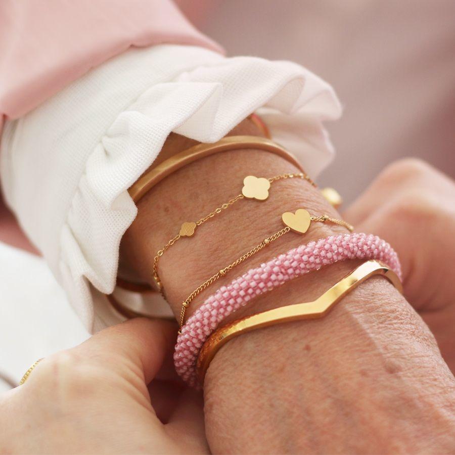 MJ Mother-Daughter Bracelet Gold