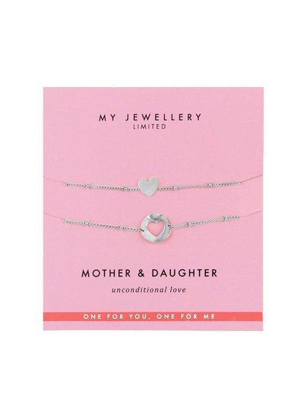 MJ Mother-Daughter Bracelet Silver