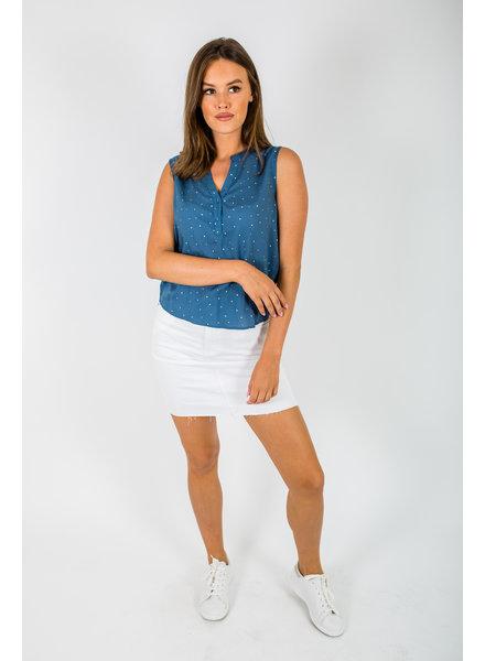 RC Denim Raw Skirt White