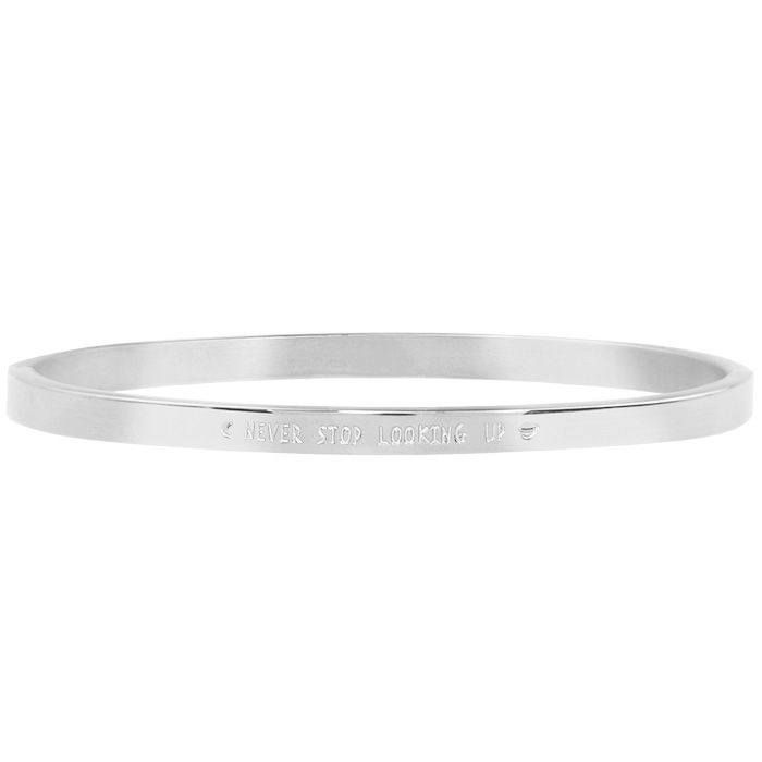 MJ Never Stop Looking Up Bangle Silver