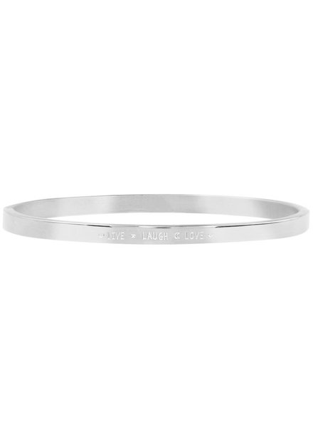 MJ Live Love Laugh Bangle Silver