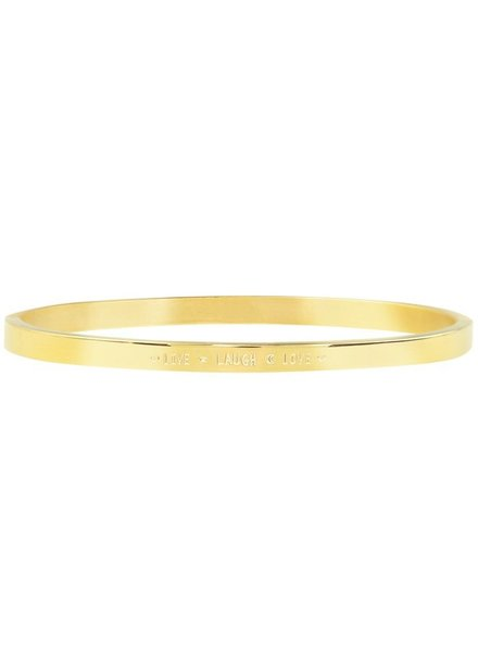 MJ Live Love Laugh Bangle Gold