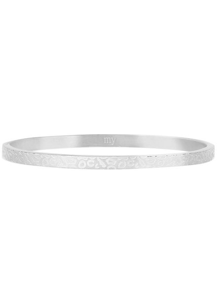 MJ Bangle met Print Zilver