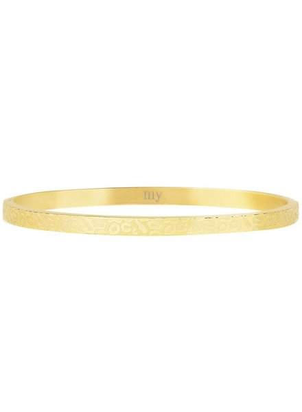 MJ Bangle met Print Goud