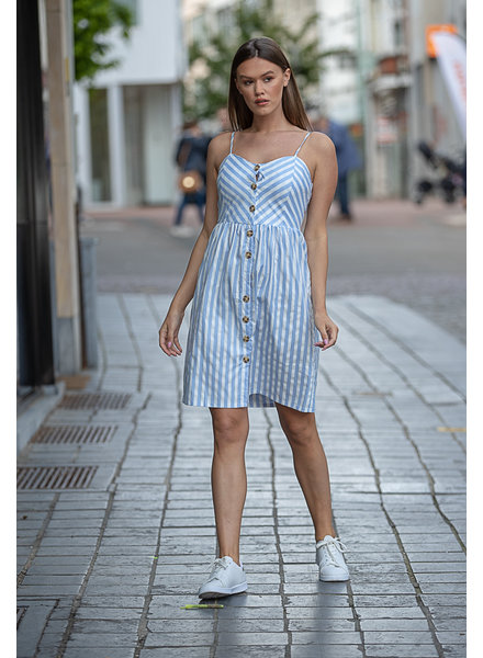 RC Leila Blue/White Stripe Dress