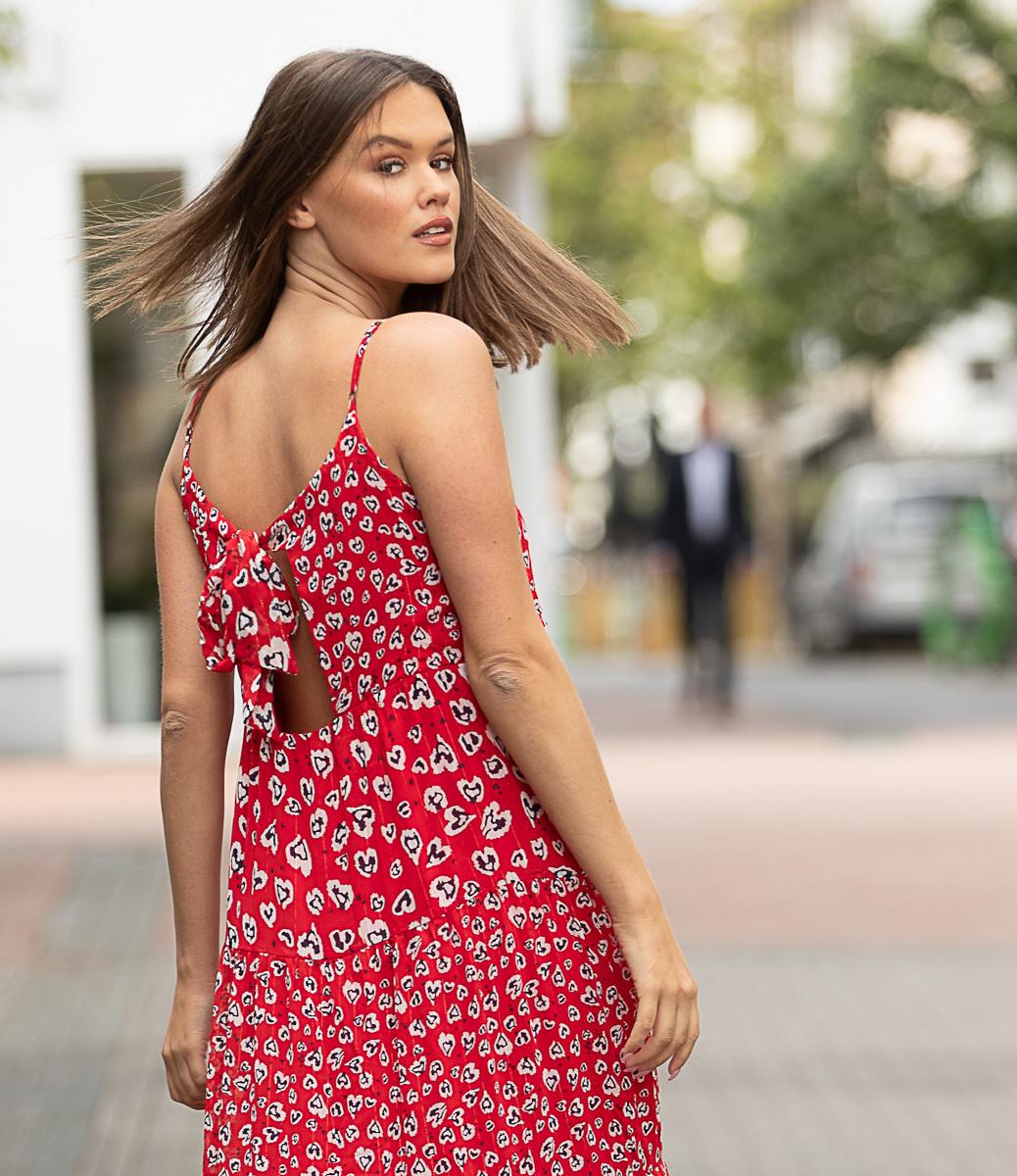 PE Solveig Red Long Summer Dress