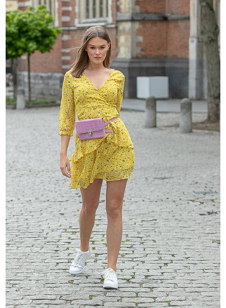 FB Lola Flower Long Sleeve Dress Yellow