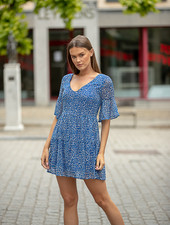 LPE Elyssa Blue Leopard Summerdress