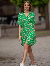 FB Matty Flower Short Sleeve Flower Dress Green
