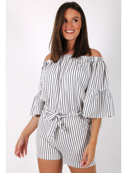 RC Fatima Striped Blouse White