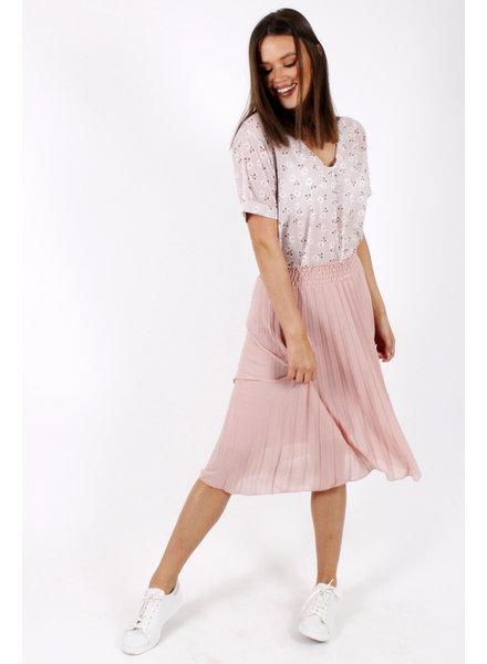 GL Florentine Plisse Skirt Pink