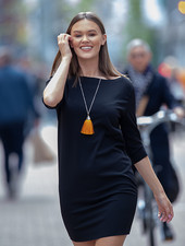 NI Jenna Basic Dress Necklace Black