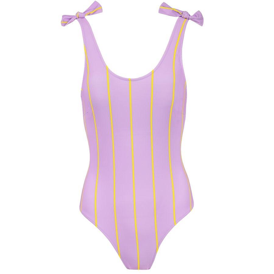 MJ Swimsuit Striped Light Purple