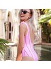 MJ Swimsuit Striped Pink