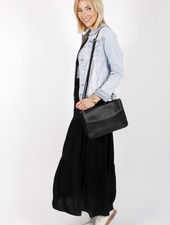 AR Gina Bohemian Skirt Black