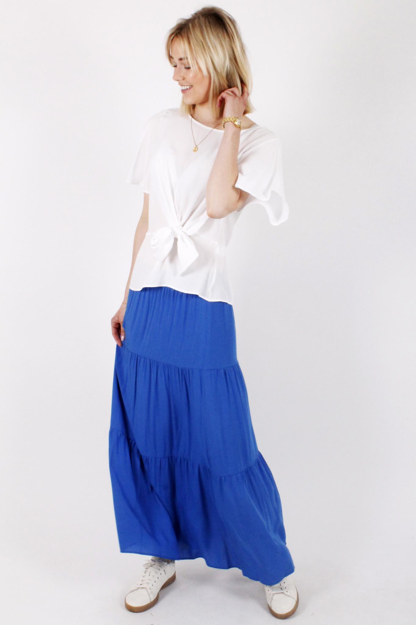 AR Gina Bohemian Skirt Bic Blue