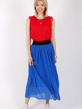 RZ Juline Plisse Skirt Royal Blue