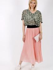 RZ Juline Plisse Skirt Pink