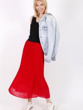 RZ Juline Plisse Skirt Red