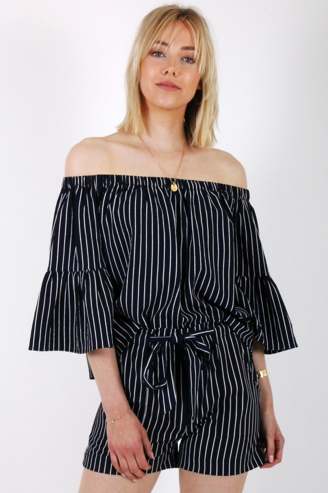 RC Fatima Striped Blouse Blue