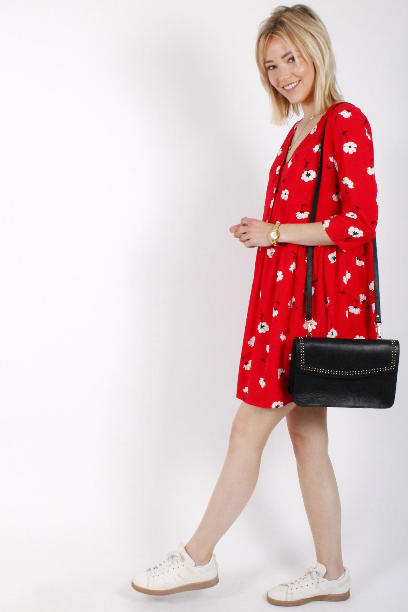 PE Nourane Dress Red Flowers