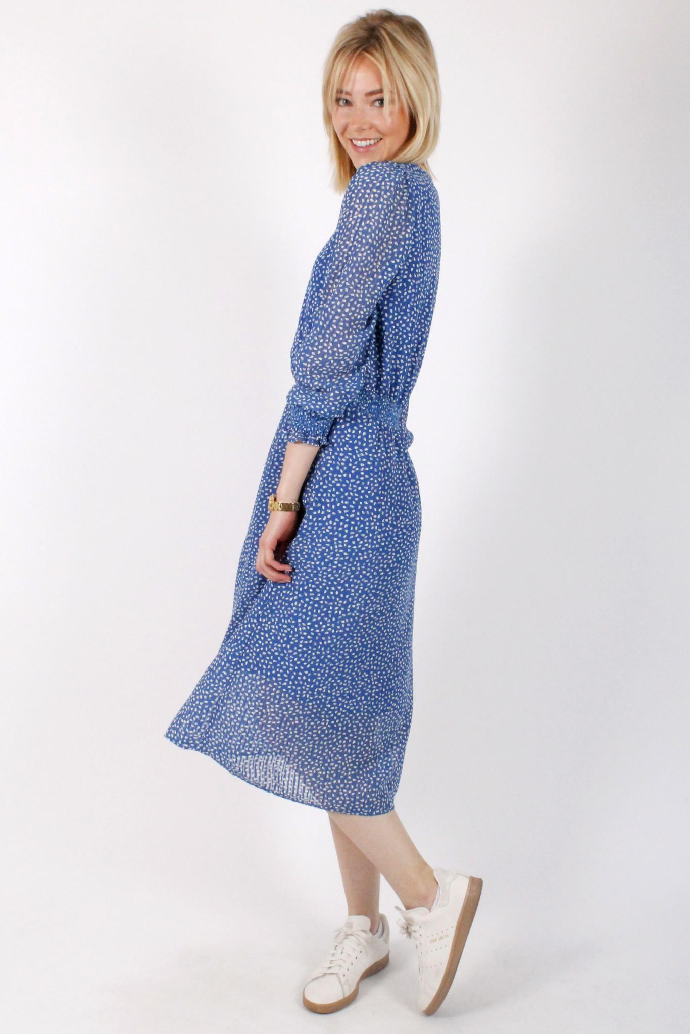 PE Petronille Dress Blue/White
