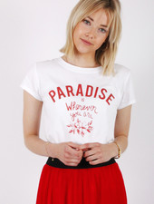 GL Paradise T-shirt White/Red