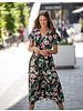 AT Janna Black V-Neck Flower Dress