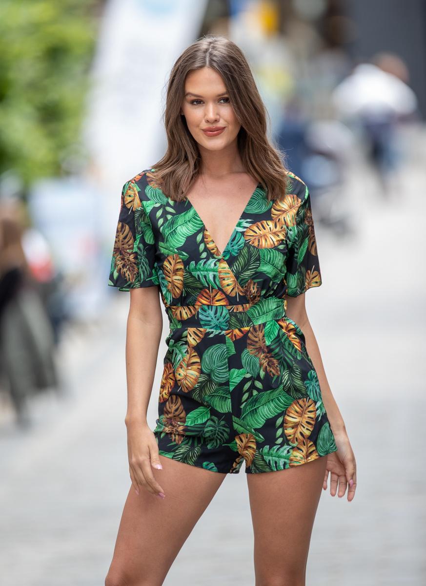 AT Jungle Playsuit Black/Green