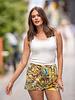 AT Flora Shorts Print Yellow