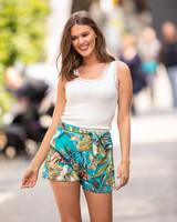 AT Flora Shorts Print Blue