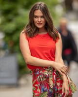 AT Flora Shorts Print Red