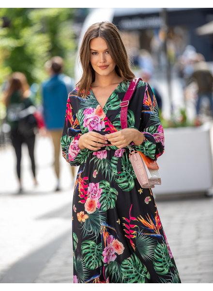 AT Amalia Dress Flowers Black