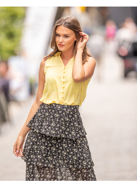 LM Charlize Skirt Black Flowers