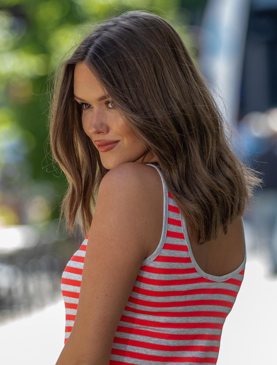 AA Lucita Dress Stripes Coral