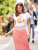AA Soledad Skirt Stripes Coral